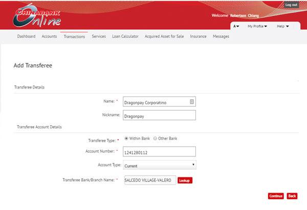 Chinabank Online Enrollment