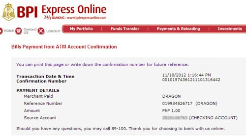 Paying Online Using BPI Expressonline And Dragonpay