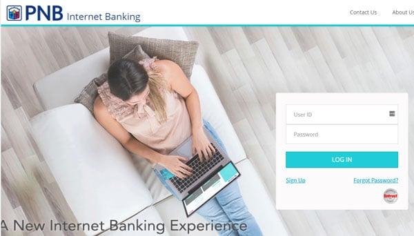 PNB Internet Banking Login Page