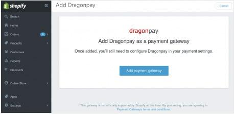 Setup Shopify with Dragonpay - Step 2
