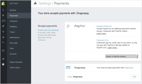 Setup Shopify with Dragonpay - Step 4