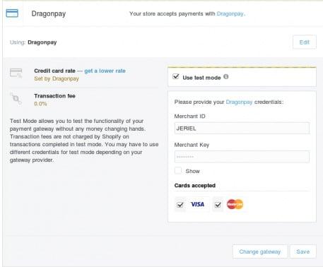 Setup Shopify with Dragonpay - Step 5