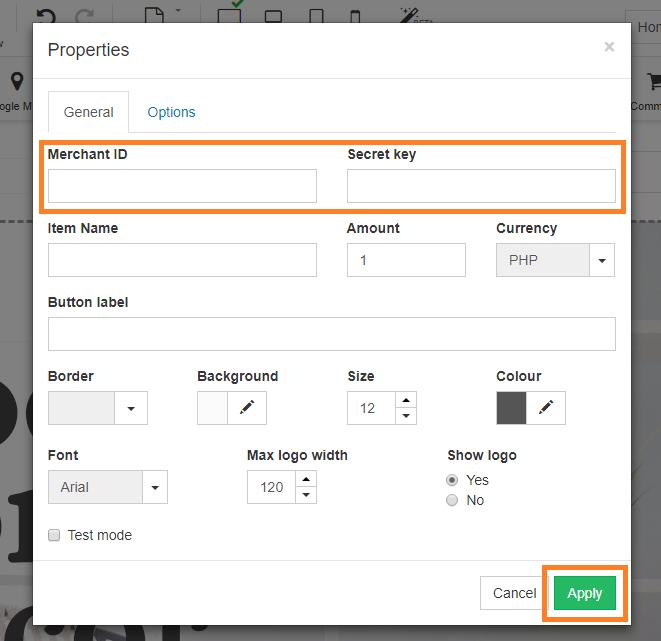 Connect Dragonpay on your Easybuilder shop - Step 3 Enter credentials