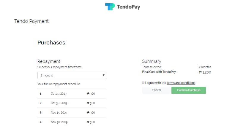 Tendopay HowTo - Step 3