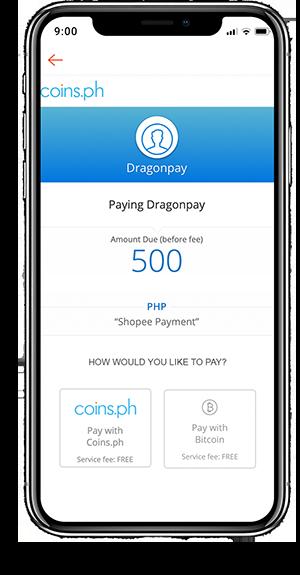 Paying via Coins.ph - Step 1