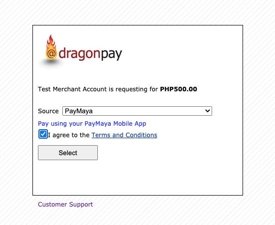 Pay via Paymaya - Step 2